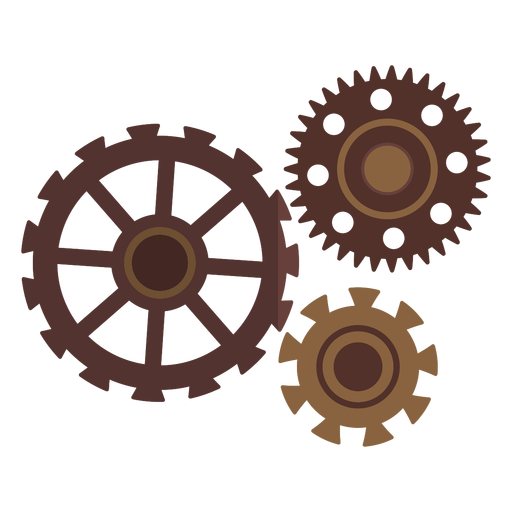 Cogwheel hole gear wheel gear pinion three flat Transparent PNG