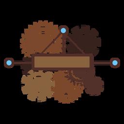 Mecanismo de engrenagem de roda dentada engrenagem pinhão plana