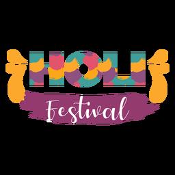 Bunte Holi Festival Schriftzug