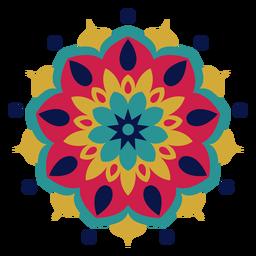 Mandala do festival de holi colorido