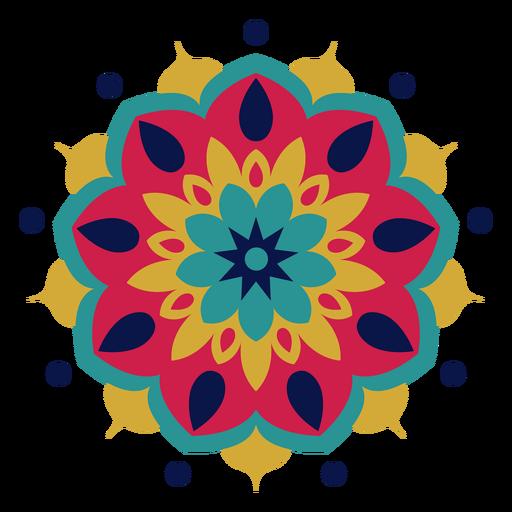 Colorful holi festival mandala Transparent PNG