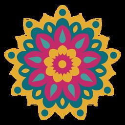 Mandala de holi colorido