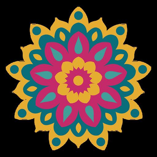 Mandala colorido holi Transparent PNG