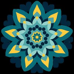 Ícone de mandala de holi colorido
