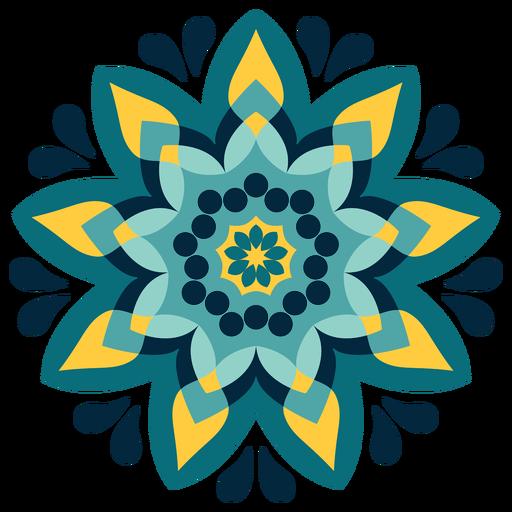 Colorful holi mandala icon