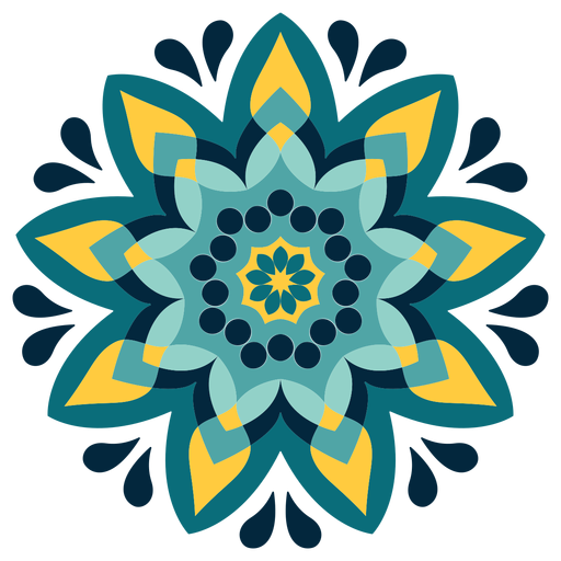Holi mandala colorido icono Transparent PNG