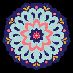 Mandala de holi indiano colorido