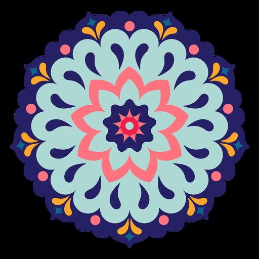 Mandala de holi indiano colorido Transparent PNG