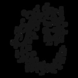 Tiempo común símbolo musical remolino