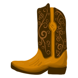 Cowboy boot illustration