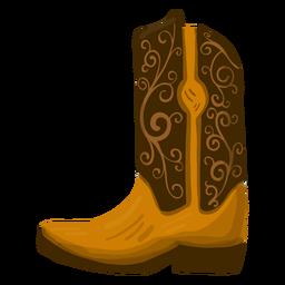 Ilustração de bota de cowboy