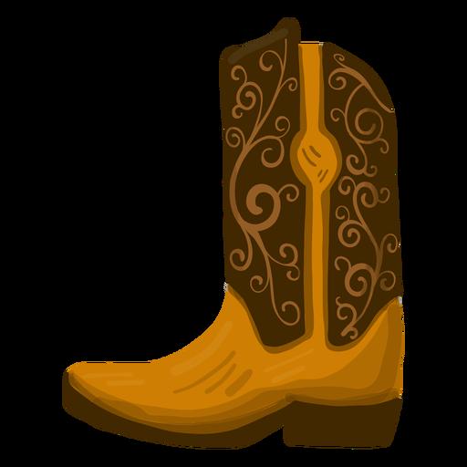 Cowboy boot illustration Transparent PNG