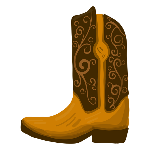 Ilustración de bota de vaquero Transparent PNG