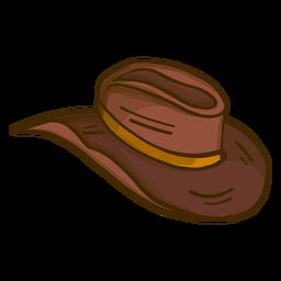 Desenho de chapéu de cowboy