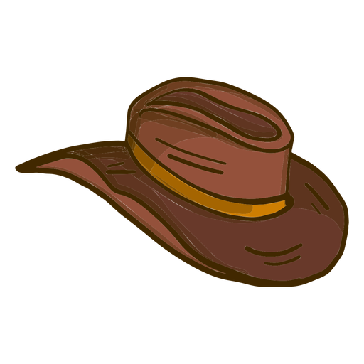 Desenho de chapéu de cowboy Transparent PNG