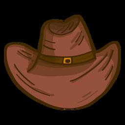 Desenho de vista frontal de chapéu de cowboy