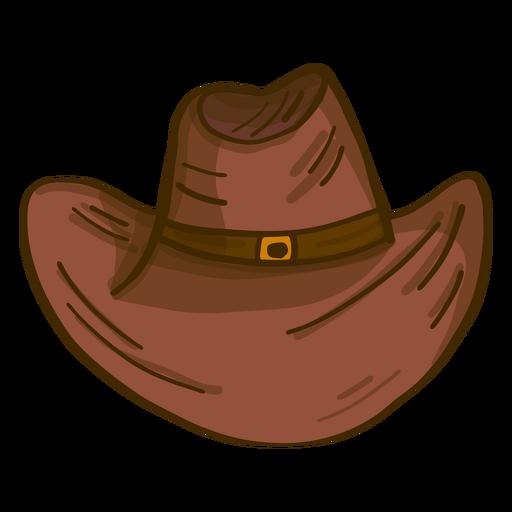 Desenho de vista frontal de chapéu de cowboy Transparent PNG
