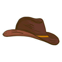 Cowboy hat side view cartoon