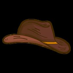 Sombrero vaquero caricatura vista lateral