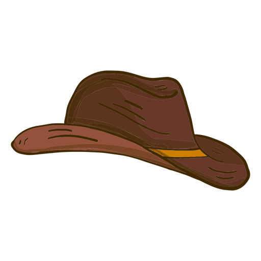 Cowboy hat side view cartoon Transparent PNG