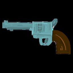 Arma revólver vaquero