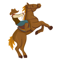 Boiadeiro, montando, cavalo empinado