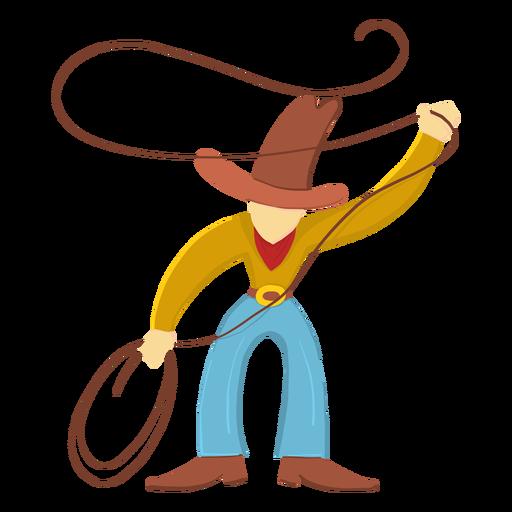 Vaquero con lazo Transparent PNG