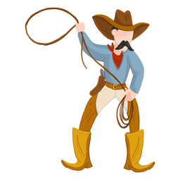 Cowboy com corda
