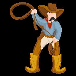 Cowboy mit Seil