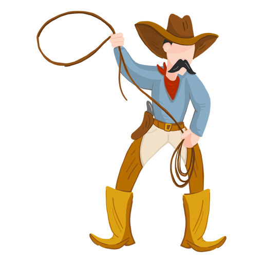 Cowboy with rope Transparent PNG