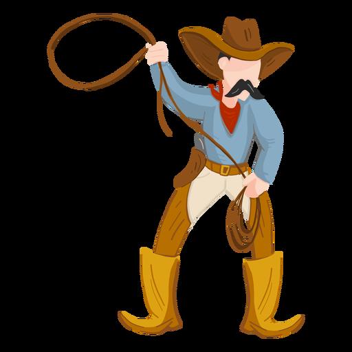 Vaquero con cuerda Transparent PNG