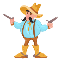 Cowboy com duas armas