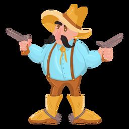 Vaquero con dos pistolas