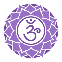 Corona chakra simbolo circulo