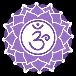 Símbolo del círculo del chakra de la corona