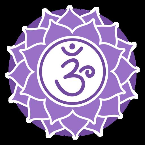 Símbolo do círculo chakra da coroa Transparent PNG