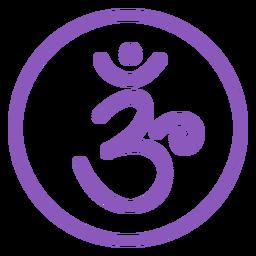Icono de línea de chakra corona