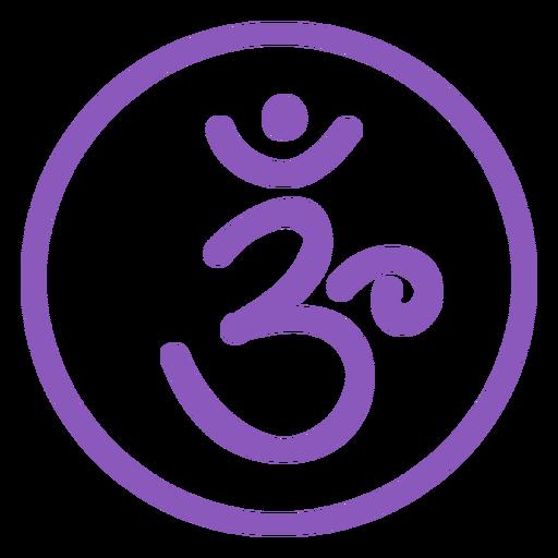 Ícone de linha de chakra da coroa Transparent PNG