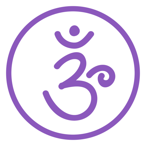 Crown chakra line icon Transparent PNG
