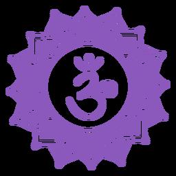 Símbolo del chakra de la corona