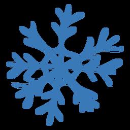 Adesivo de floco de neve de padrão de cristal