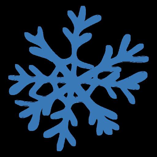 Adesivo de floco de neve de padrão de cristal Transparent PNG