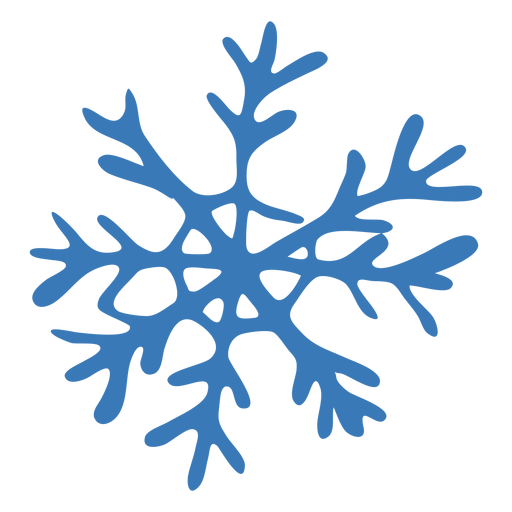Crystal pattern snowflake sticker Transparent PNG