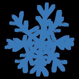 Pegatina de copo de nieve de cristal