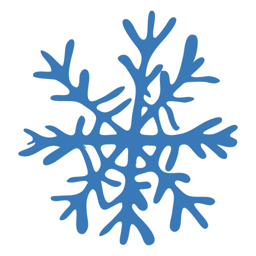 Crystal snowflake pattern sticker Transparent PNG