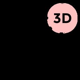 Cube 3d face stroke