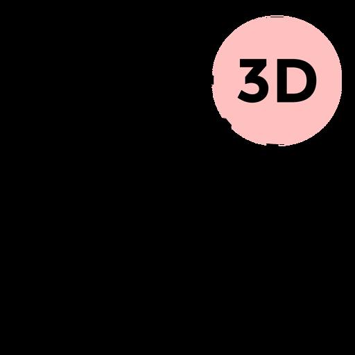 Cube 3d face stroke Transparent PNG