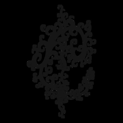Cut time musical symbol swirl Transparent PNG