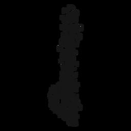 Flacher musikalischer Symbolstrudel Demi
