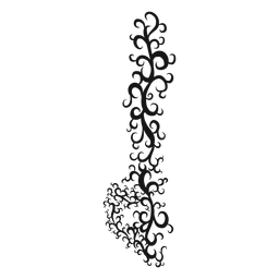 Redemoinho de símbolo musical plana Demi